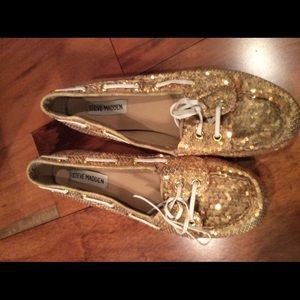 Steve Madden sequin moccasin/loafers/flats
